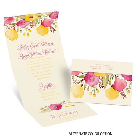 Pretty Posies - Ecru - Seal and Send Invitation