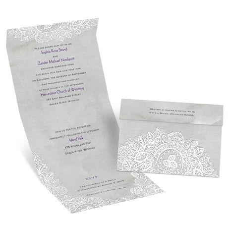 White Lace  Seal and Send Invitation