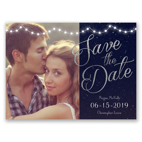 Lights Aglow - Save the Date Card