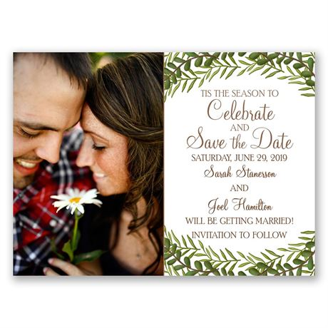 """Tis the Season - Holiday Card Save the Date"