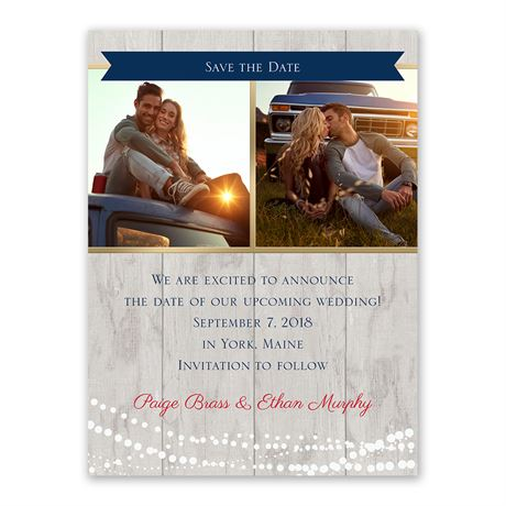 Country Lights Save the Date Card