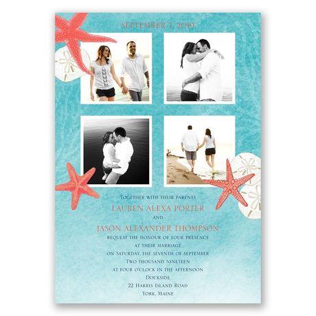Ocean Adventure Invitation with Free Respond Postcard