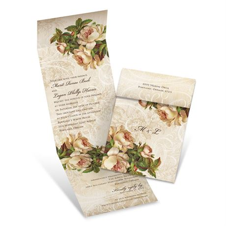 Beautifully Antique - Invitation with Online Reply