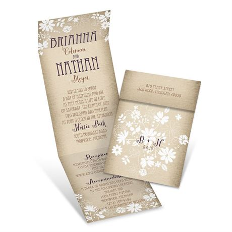 Country Charm  Invitation with Online Reply