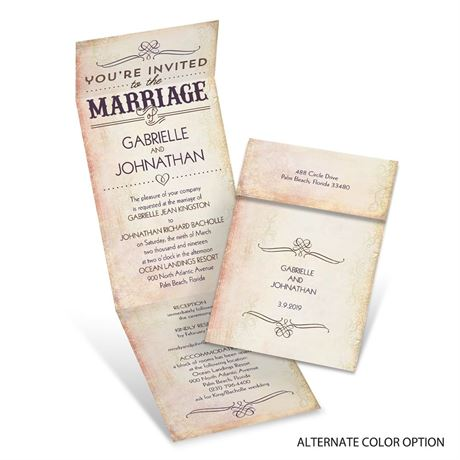 Western Elegance - Invitation with Online Reply