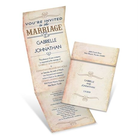 Western Elegance  Invitation with Online Reply