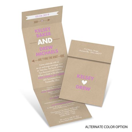 Hearts and Arrows - Invitation with Online Reply