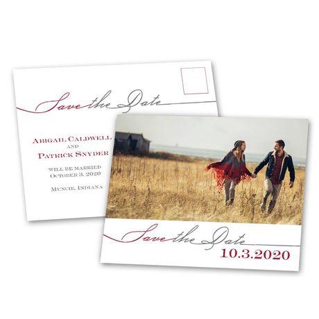 Modern Romance - Save the Date Postcard