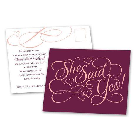 Lucky Charm Bridal Shower Postcard
