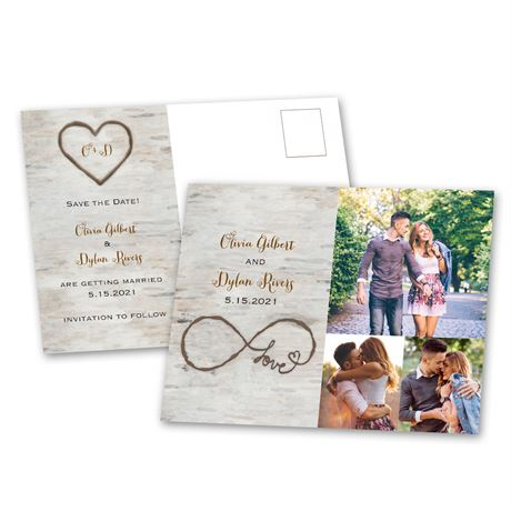 Birch Beauty Save the Date Postcard