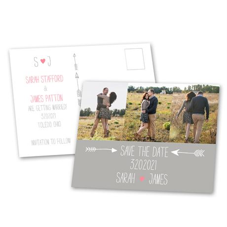 Cupids Touch Save the Date Postcard