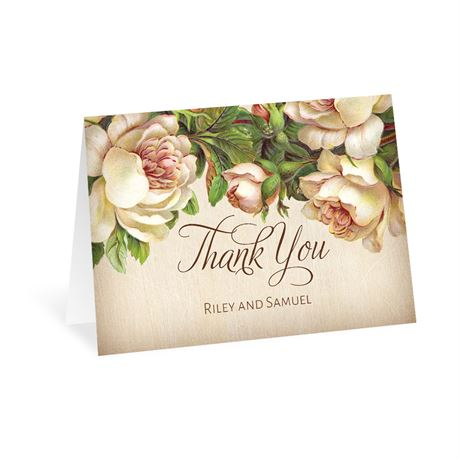 Antique Rose Thank You Card
