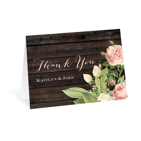 Rustic Floral -  Thank You Card
