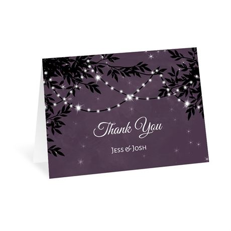 String of Lights Thank You Card