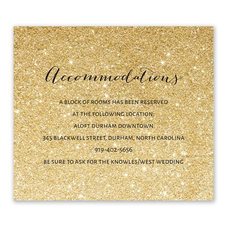 Glitter Illusion - Gold - Information Card