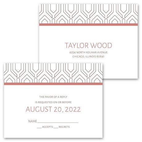 Modern Muse -  Invitation with Free Respond Postcard