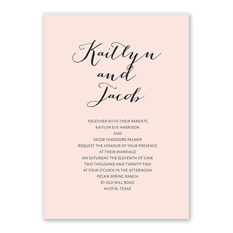 Minimalist Beauty Invitation with Free Respond Postcard
