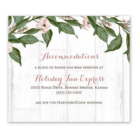 Farmhouse Floral Information Card