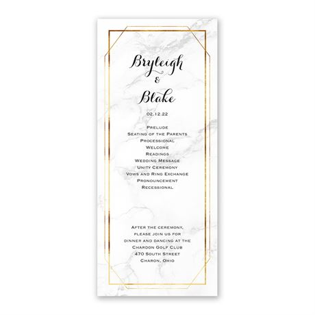 Marble Frame - Wedding Program