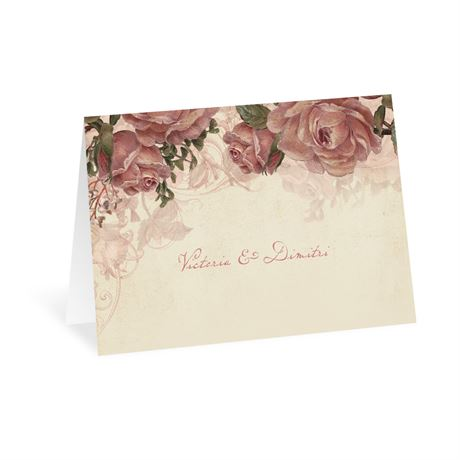 Vintage Roses Thank You Card