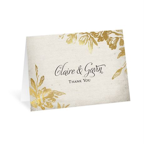 Rustic Glam Thank You Card