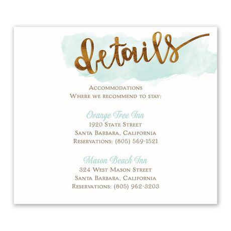 Watercolor Love Information Card