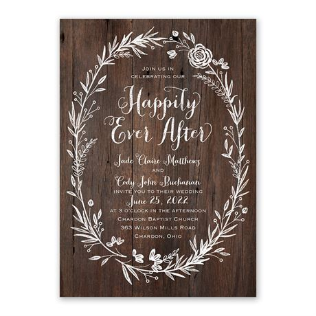 Ever After - Invitation with Free Response Postcard
