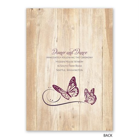Butterfly Swirl - Invitation with Free Response Postcard