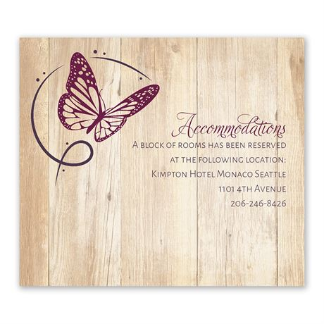 Butterfly Swirl Information Card