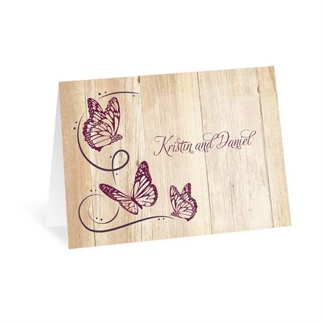 Butterfly Swirl - Thank You Card