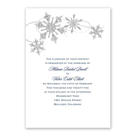 Snowflake Sparkle - Invitation with Free Respond Postcard