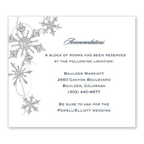Snowflake Sparkle Information Card