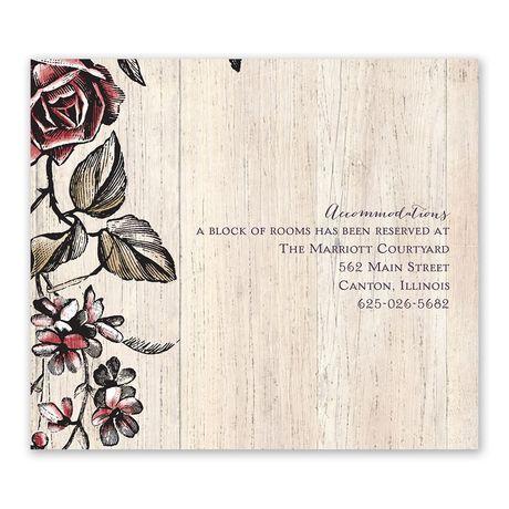 Rose Vines - Information Card