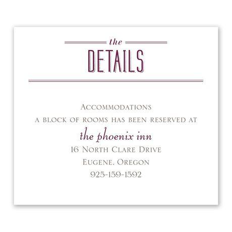 Photo Celebration - Information Card
