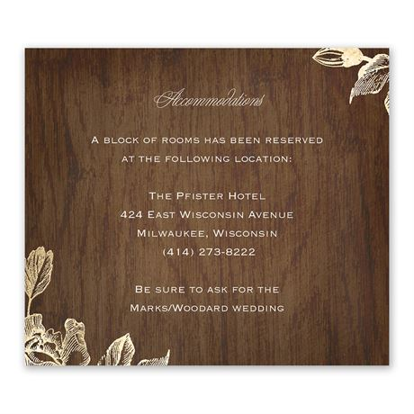 Gold Magnolias - Information Card