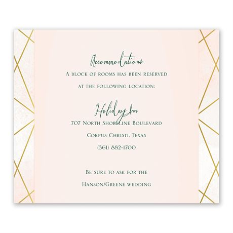 Modern Chic - Information Card