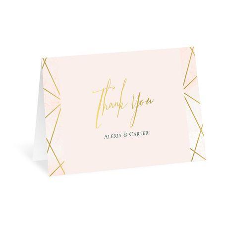 Modern Chic Thank You Card