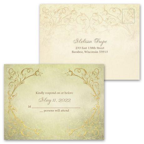 Woodland Fairy Tale - Invitation with Free Response Postcard
