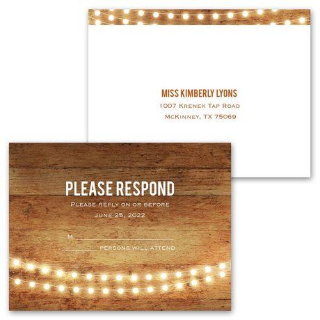 Brilliant Lights - Invitation with Free Response Postcard