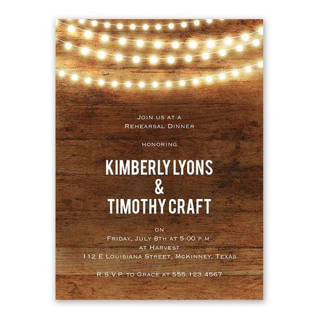 Brilliant Lights - Rehearsal Dinner Invitation