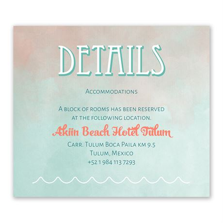 Destination Mexico - Information Card