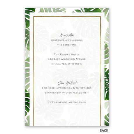 Pretty Palms - Invitation with Free Response Postcard