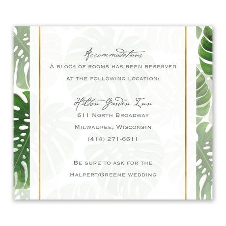 Pretty Palms - Information Card