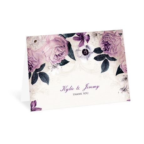 Victorian Floral Thank You Card