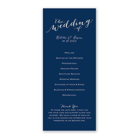 Keep It Simple - Wedding Program