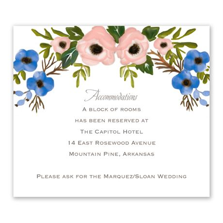 Blooming Beauty Information Card
