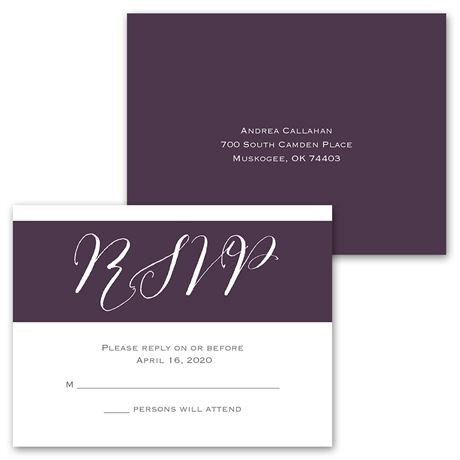 Pure Portrait - Invitation with Free Response Postcard