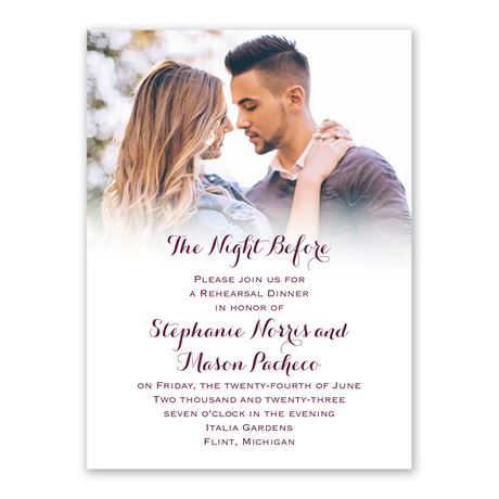 Sweet and Simple Rehearsal Dinner Invitation