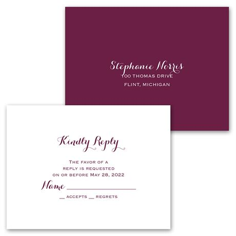 Sweet and Simple - Invitation with Free Response Postcard