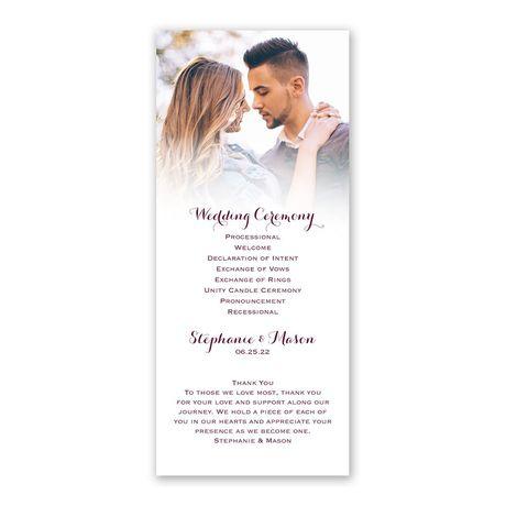Sweet and Simple Wedding Program